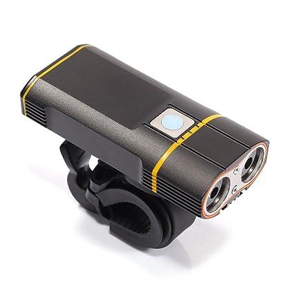 Amazon.com: Recargable por USB para bicicleta MTB 800lm ...