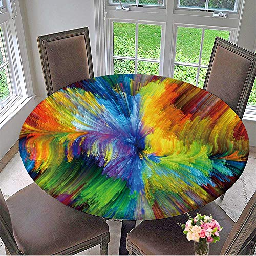 Mikihome Modern Table Cloth Colors in Bloom Series Composition of Fractal Color Textures Suitable as a Backdrop Indoor or Outdoor Parties 67