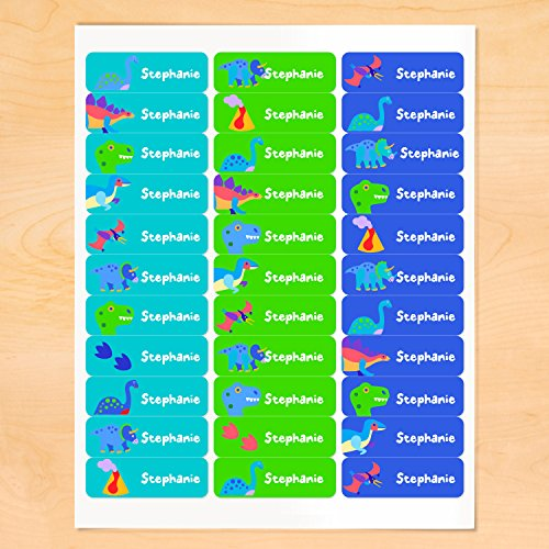 Dinosaur Personalized Rectangle Waterproof Labels By Olive Kids -