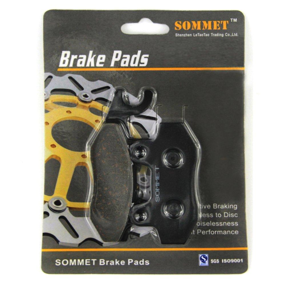 SOMMET 1 Paire Motocyclette plaquettes de frein Avant pour Suzuki DR 350 (SL/SM/SN/SP) (4 bolt front disc/kick start) (1990-1993)