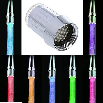 MagiDeal LED Licht Wasserhahn Armatur Sp/ültischarmatur K/üchenarmatur mit 7 Farben