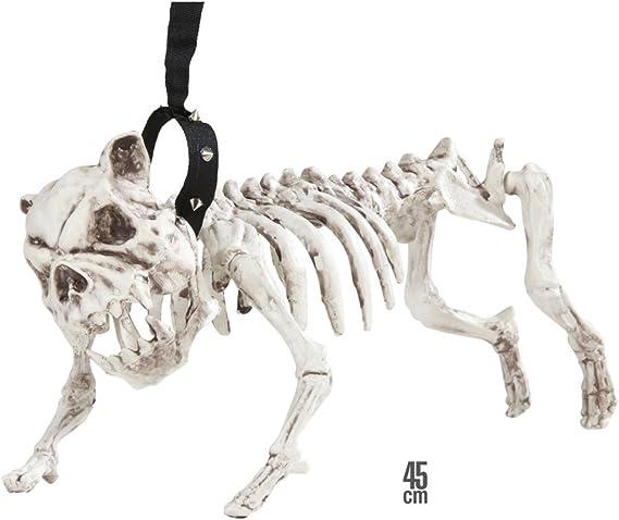 SKELETT HUND DOG sitzend ca 48cm lang Halloween Grusel Tier-Skelett #2186