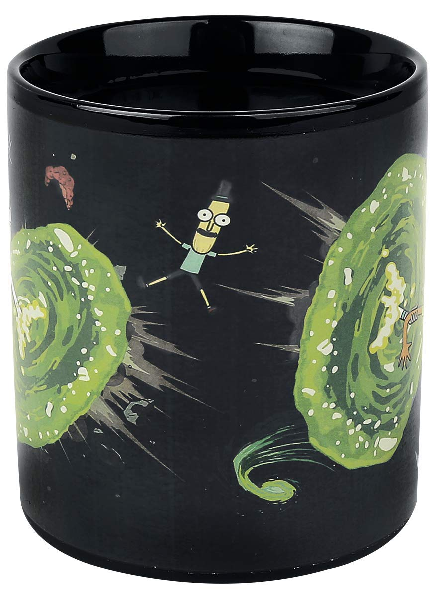 multicolor Portals Heat Changing Mug Cartoon Network scmg24959/Rick And Morty