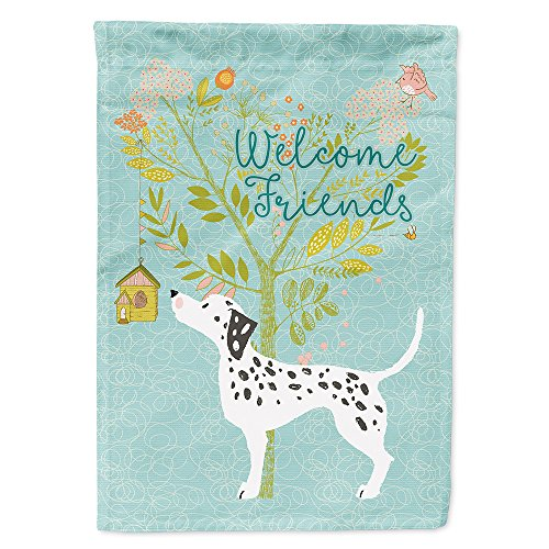 Caroline's Treasures BB7585GF Welcome Friends Dalmatian Decorative Garden Flag, Size, Multicolor