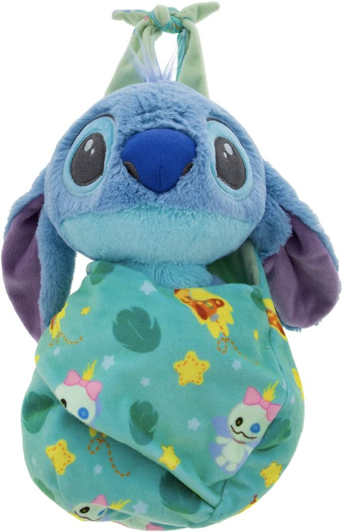 Disney Parks Baby Stitch in a Pouch Blanket Plush Doll