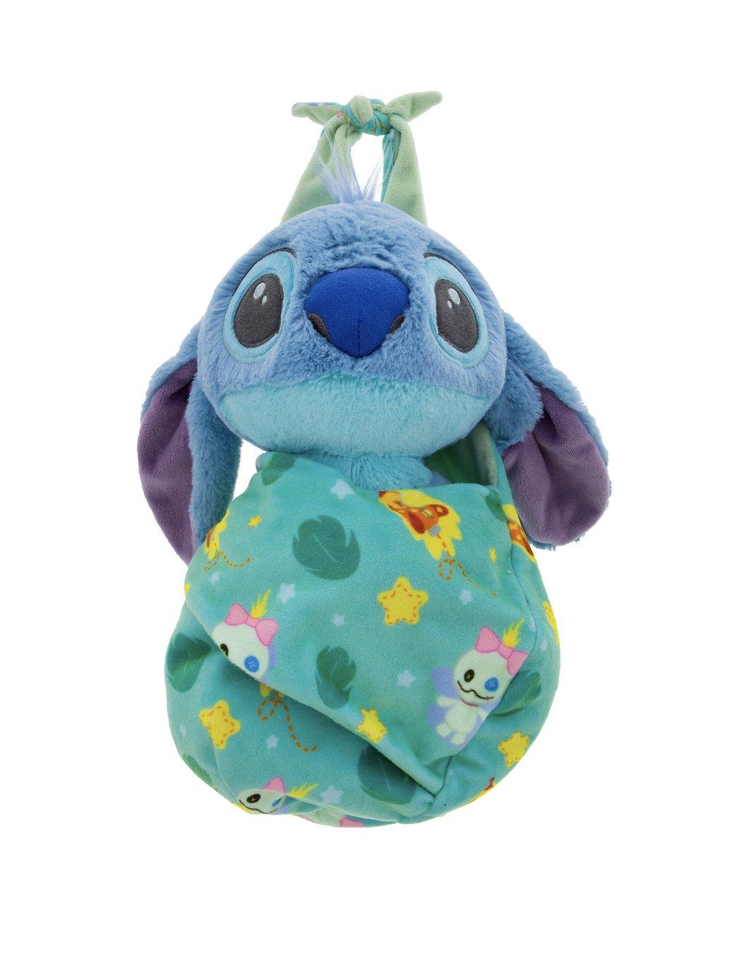 Disney Parks Baby Stitch in a Pouch Blanket Plush Doll by Disney