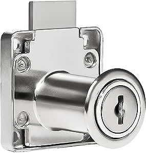 BONNIO Caja de Seguridad caj/ón gabinete Armario archivador Armario Cilindro Cerradura Cerradura Llaves Muebles