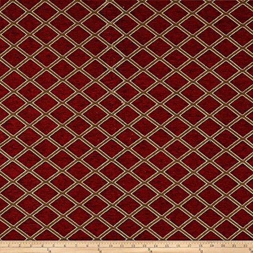Fabric Diamond Chenille Jacquard Ruby Yard