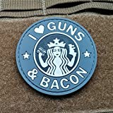 I Love Guns and Bacon Morale Patch PVC