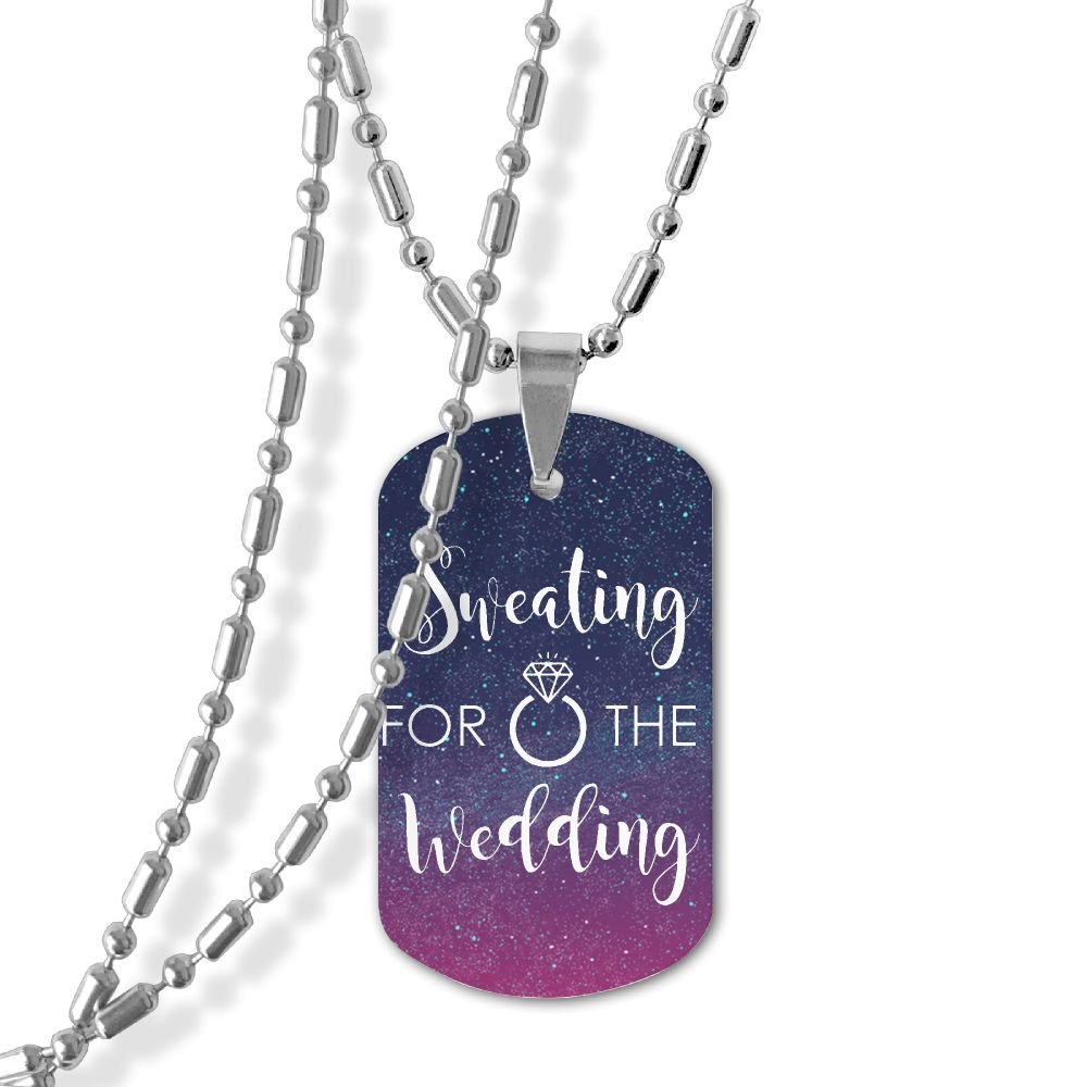 Sweating For The Wedding Unisex Dog Tag Pendant Necklace Military Spec Zinc Alloy Dog Tags Necklace