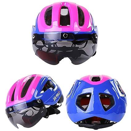 ZHYY Casco para Bicicleta Gafas de Sol magnéticas Proceso de ...