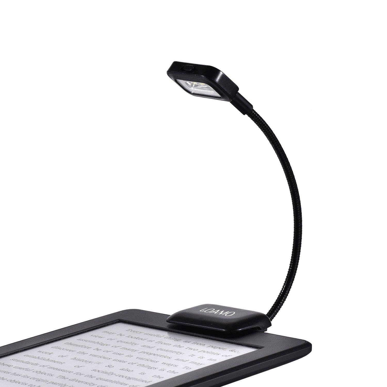Kindle Book Light Clip-On LED Reading Light Flexible Neck with 2 Levels of Lumen Intensity for Amazon Kindle 1 / 2 / 3 / 4 / 5, Kindle 7th / 8th Gen, Kindle Touch / DX / DXG, Nook, eBook Reader