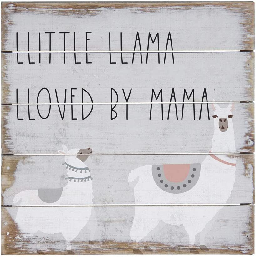 """Simply Said, INC Perfect Pallet Petites 8"""" Wood Sign - Little Llama Loved by Mama"""