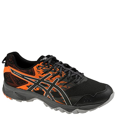 7b728afa ASICS T724N Men's Gel-Sonoma 3 Running Shoe, Black/Shocking Orange - 9.5  D(M) US