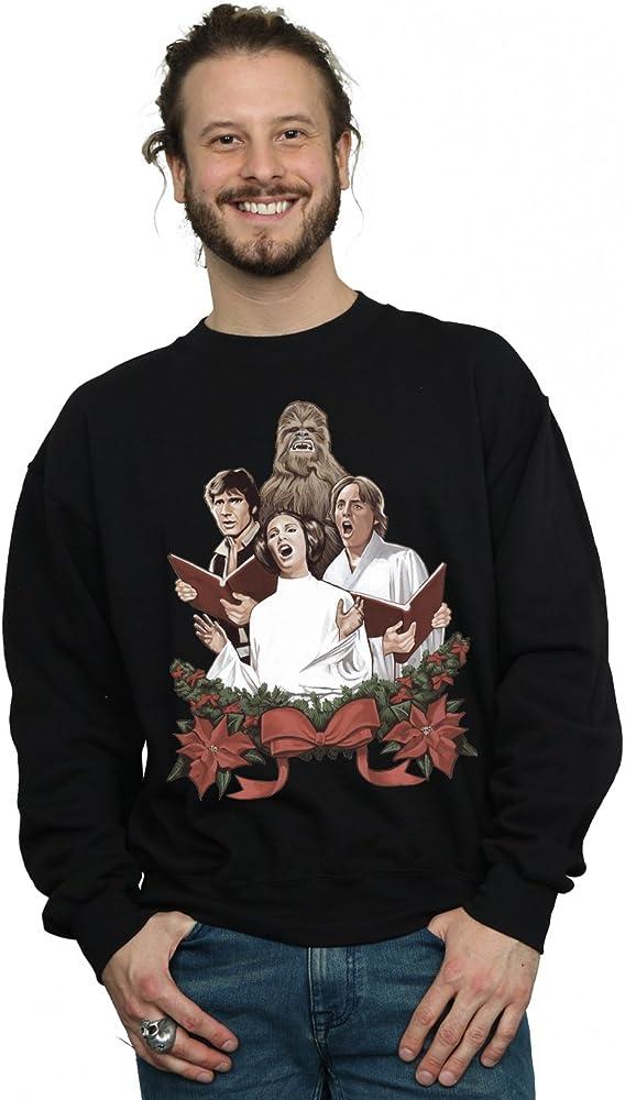 Star Wars Men S Christmas Carols Sweatshirt Small Black At Amazon Men S Clothing Store