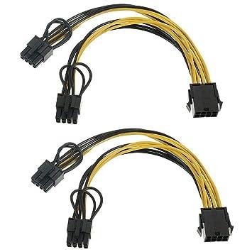 Busirde 2ST PCIE - Cable de alimentación para Tarjeta ...
