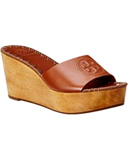8b78bacc91b Tory Burch Patty 80MM Wedge Slide in Perfect Cuoio