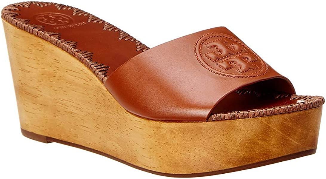 4b491cd36c9 Tory Burch Patty 80MM Wedge Slide 7 Perfect Cuoio
