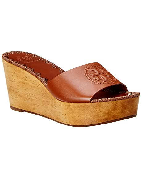 9c9bd46dfc3 Tory Burch Patty 80MM Wedge Slide 7 Perfect Cuoio