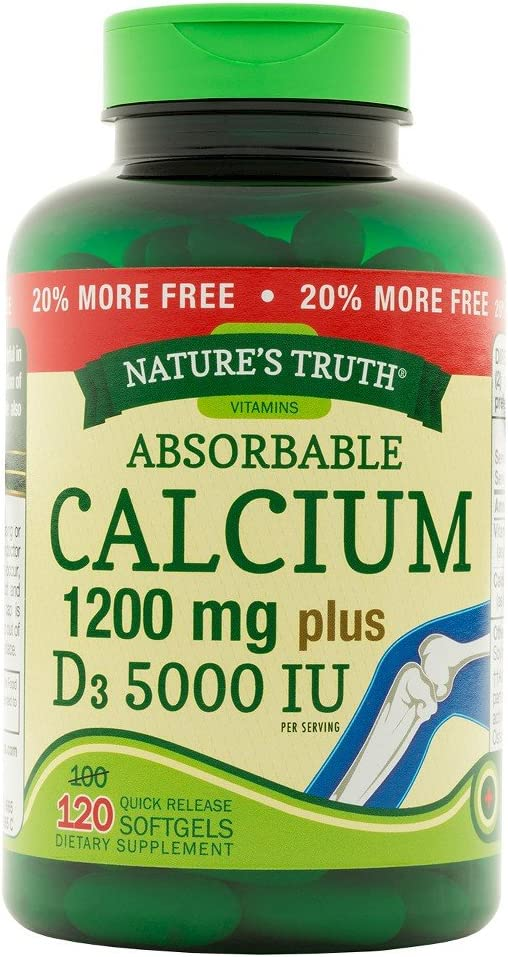 Nt Calcium 1200mg + D3 Bn Size 100+2 Nt Calcium 1200mg + D3 50000iu Bonus Softgel 100+20ct