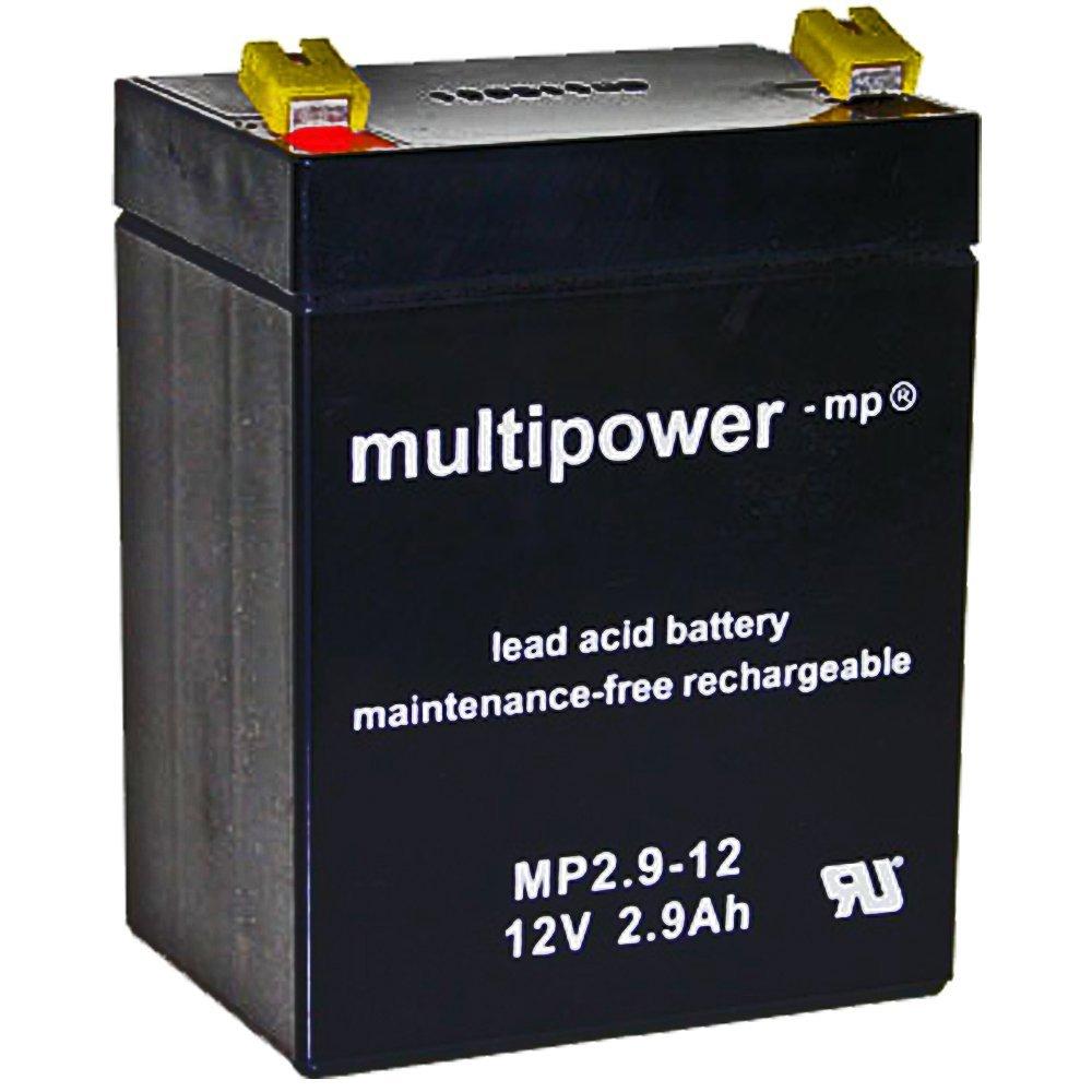 Multi Power mp2.9/ /12/12/Volt 2,9/AH FASTON 4,8/mm Pb Batteria al piombo non VDS di approvazione /12/mp2.9/