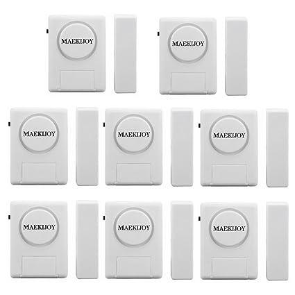Kit de alarma para ventana / puerta 100dB, [8 piezas ...