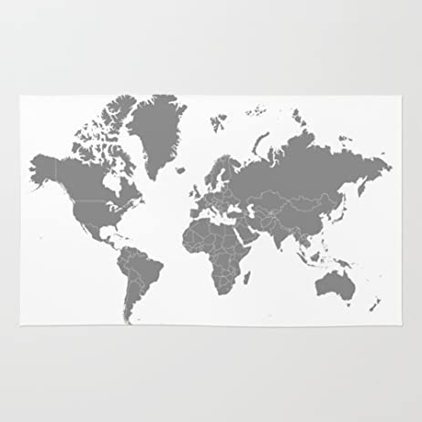 Amazon society6 minimalist world map gray on white background society6 minimalist world map gray on white background rug 3 gumiabroncs Image collections
