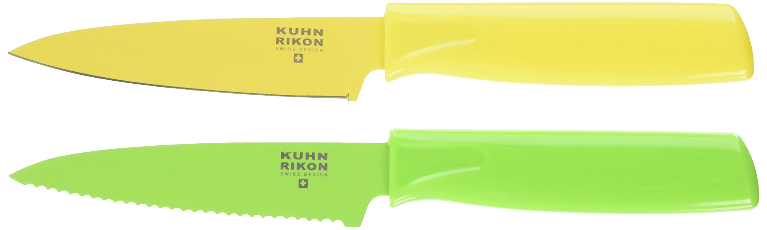 Kuhn Rikon 4-Inch Nonstick Colori Paring Knife, Set of 2