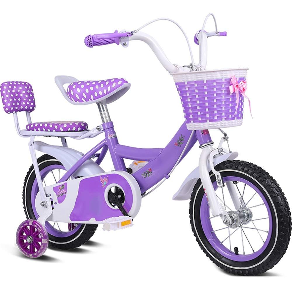 Lila 16in YUMEIGE Kinderfahrräder Kinderfahrräder Kinderfahrrad12   14 16 18 20 Zoll Jungen und Mädchen Radfahren, Geeignet für Kinder von 2 bis 11 Jahren Verfügbar