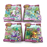 NEW! National Geographic Animal Jam COMPLETE COLLECTION Bundle with Magic Horse, Sparkle Tiger, Lucky Lynx, and Twinkle Panda INCLUDES 4 LIGHT UP RINGS, 4 ONLINE GIFT CODES! by Animal Jam