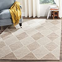 Safavieh Montauk Collection MTK822E Handmade Flatweave Beige Cotton Area Rug (6 x 9)