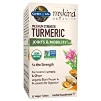 Garden of Life mykind Organics Maximum Strength Turmeric Joints & Mobility Support...