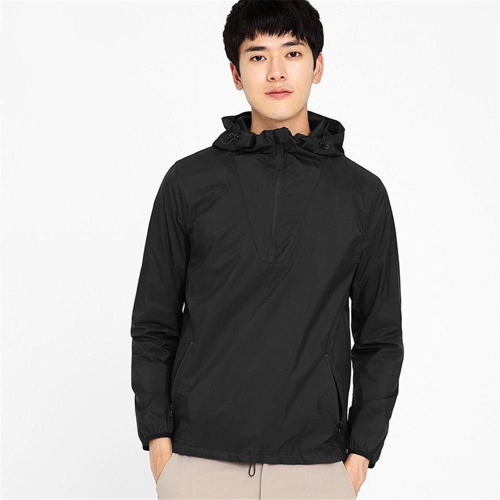 Fjubjv männer - Casual Mode Mantel im Herbst,schwarz,XL