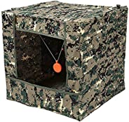 HHTS Foldable Target Box Aim Practice Tool Sling Shot Ammo Recycle Archery Target Case with Silicone Target Bu