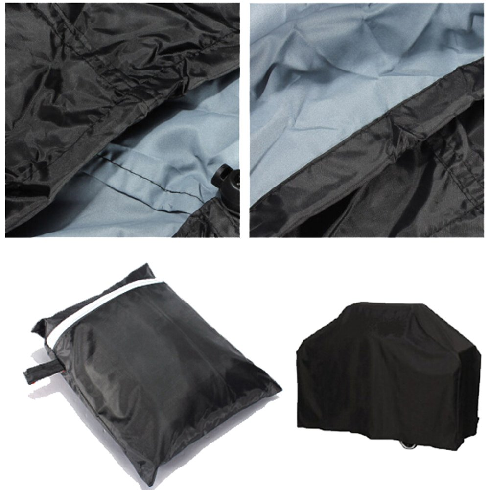117cm*61cm*145cm Black Waterproof BBQ Cover Outdoor Rain Barbecue Grill Protector Mcitymall66 Mcitymall66-123
