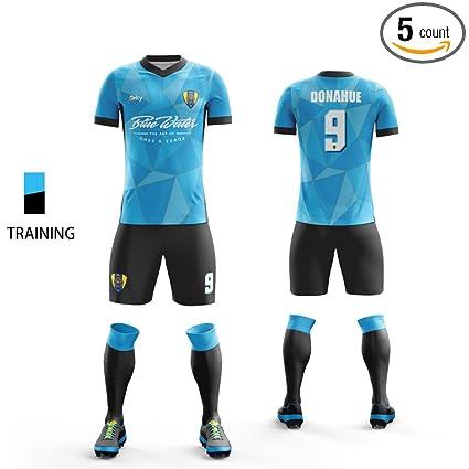 outlet store 022d1 62d8b Amazon.com : ORKY Custom Men Soccer Uniform Kids Soccer ...
