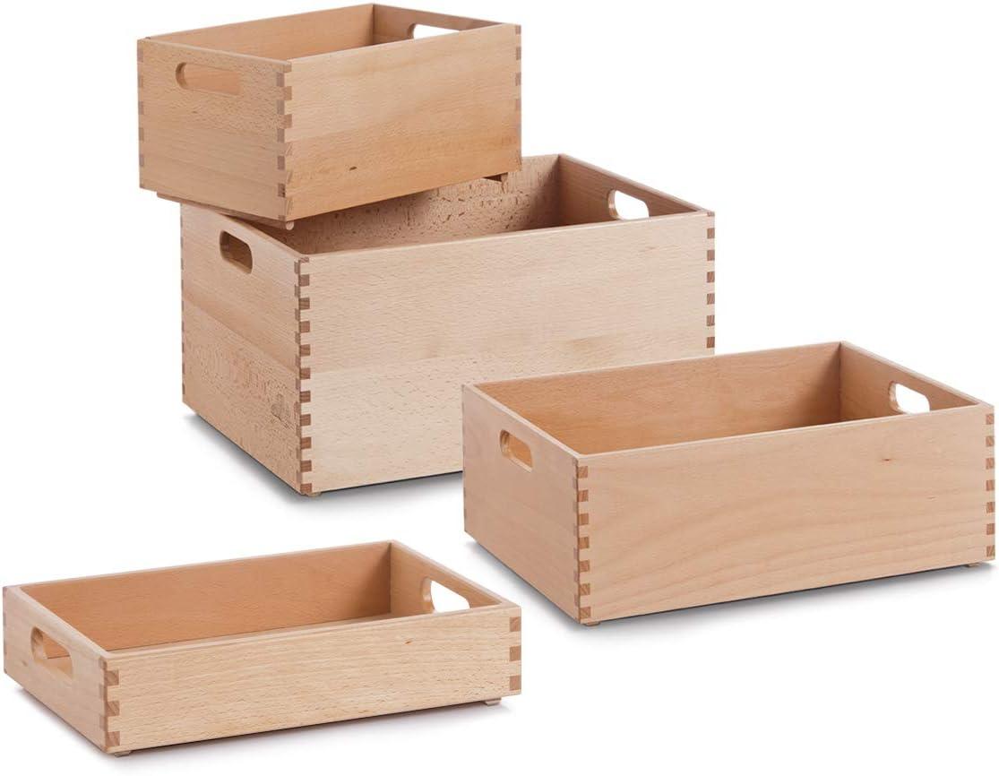 Zeller 13307 Caja Multiusos, Madera, Marrón, 40x30x7 cm: Amazon.es: Hogar