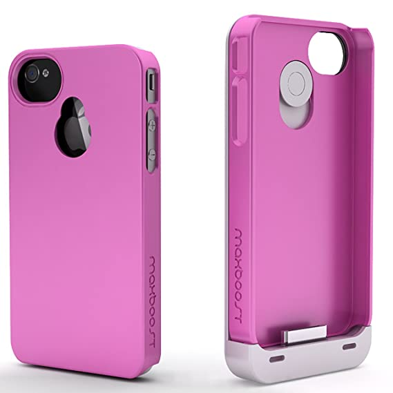 quality design 59d01 489b0 Maxboost iPhone 4S Battery Case/iPhone 4 Battery Case (1900mAH, Fits all  versions of Apple iPhone 4 & 4S) - Detachable Battery Charger Case External  ...