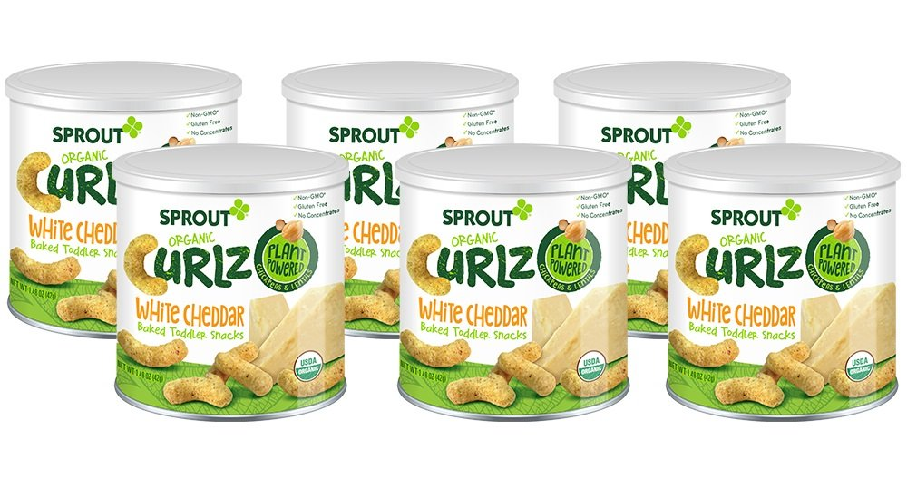 Sprout Organic Baby Food, Sprout Organic Curlz Toddler Snacks, White Cheddar, 1.48 Ounce Canister (Pack of 1), Plant Powered, Gluten Free, USDA Certified Organic, Nothing Artificial Sprout Foods Inc.