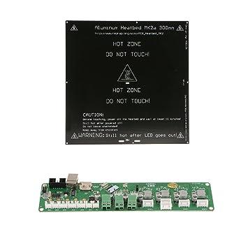 H HILABEE Impresora 3D PCB Cama con Calefacción MK3 / MK2A Cama De ...