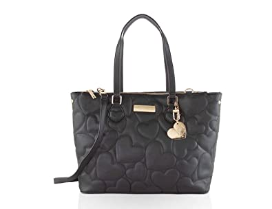 411884ef61a2 Betsey Johnson Triple Compartment Satchel Tote Bag - Black  Handbags ...