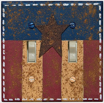 CWI Gifts Americana Double Switch Plate Cover