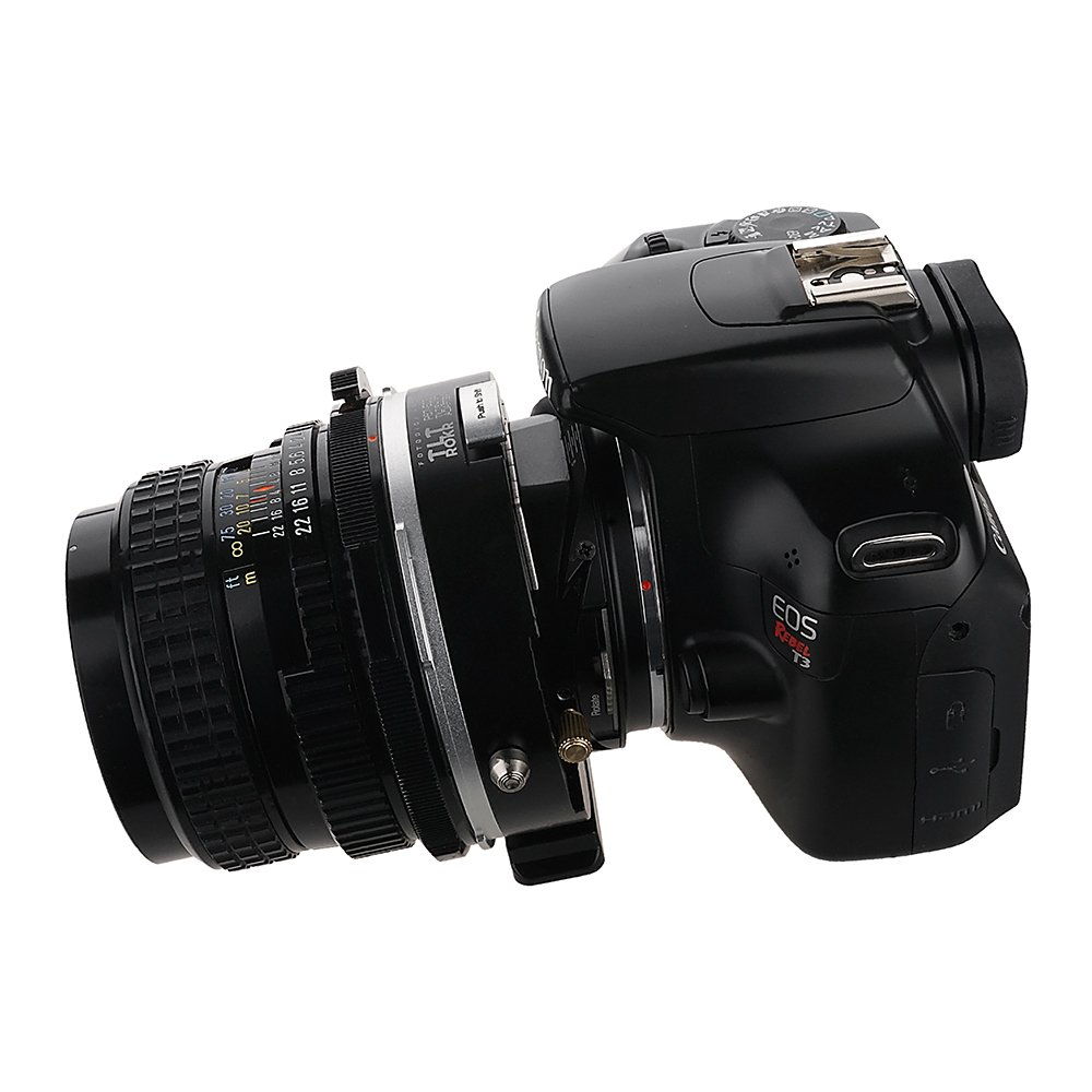 Fotodiox Pro TLT ROKR with Gen10 Focus Confirmation Chip Tilt//Shift Lens Mount Adapter Compatible with for Bronica SQ Mount Lenses to Canon EOS EF, EF-S Mount D//SLR Camera Body