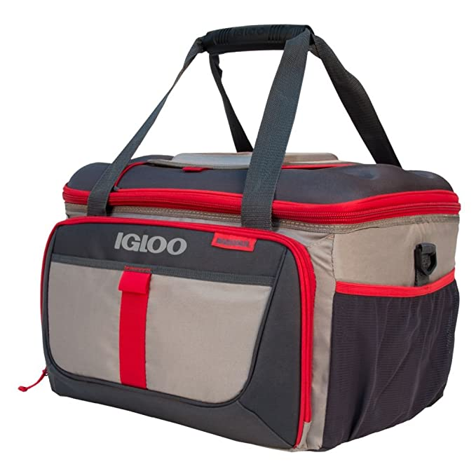 Igloo Outdoorsman Collapsible 50-Sandstone/Blaze Red best ice chests/coolers