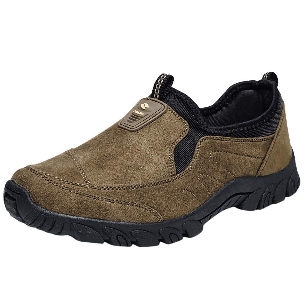 LILIGOD Herren rutschfeste Atmungsaktive Outdoor-Schuhe Verschleißfeste Laufschuhe Mode Slip-On Turnschuhe Winter Einzelne Schuhe Slipper Mokassins Wildleder Freizeitschuhe
