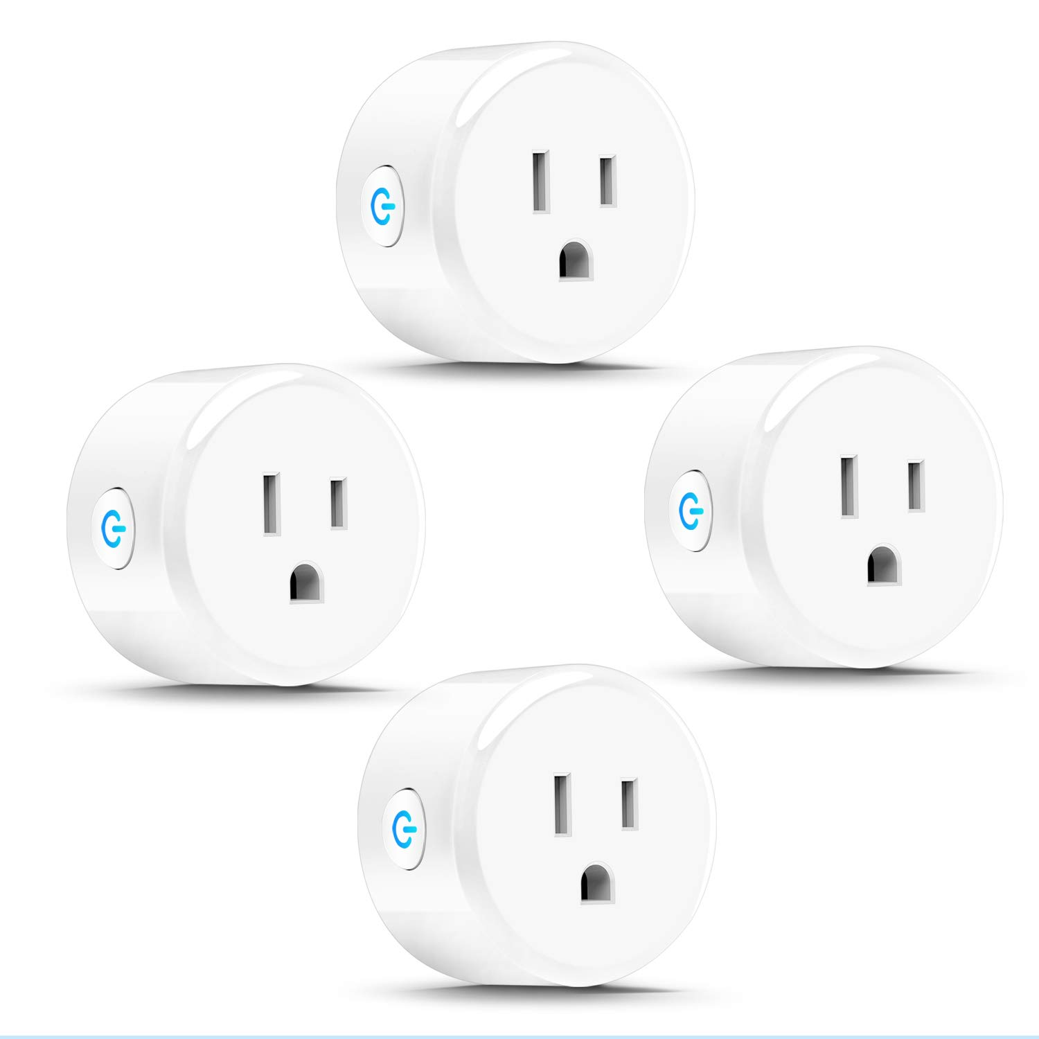 Anbes DL40002883 Wi-Fi Smart Plug Mini Outlet Socket Works with Amazon Alexa Echo, Google Home and Ifttt, Etl and Fcc Listed, No Hub Required (4 Pack)