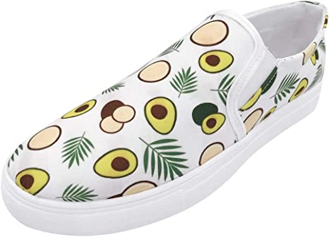 Suitray - Zapatillas de lona para mujer, diseño de aguacate ...