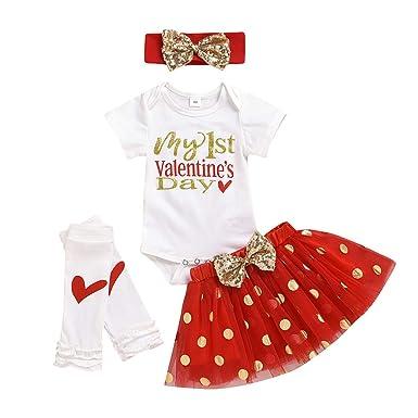 Moneycom❤ recién Nacido bebé niña niña San Valentín Falda tutú ...