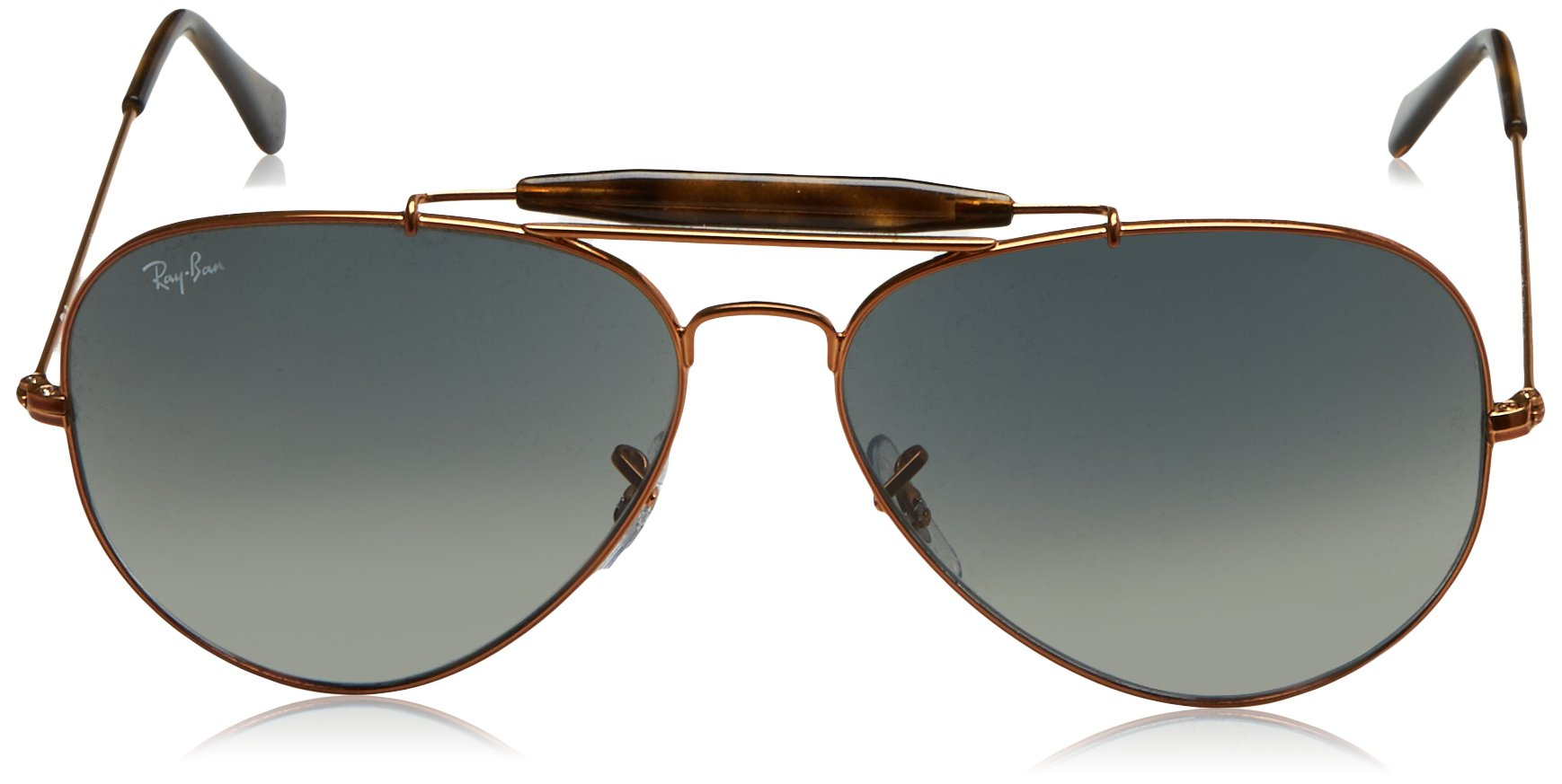 Ray-Ban Men's Outdoorsman Ii Aviator Sunglasses, Shiny Bronze, 62 mm by Ray-Ban (Image #2)