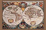 Best History Posters - Laminated 17th Century World Map History Chart Print Review